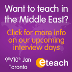 Want to teach in the Middle East?