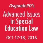 Advanced issues in Special Education Law