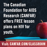 Ad by the Canadian Foundation for AIDS Research